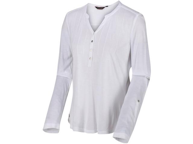 Regatta FFlur Camiseta Manga Larga Mujer, white